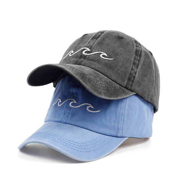 new design dad hats women men sea wave baseball cap high quality unisex fashion dad hats new sports hats