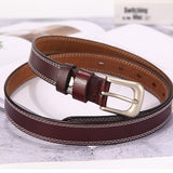 belts for women strap male genuine leather jeans women genuine leather cowhide leather Pin buckle ceinture homme