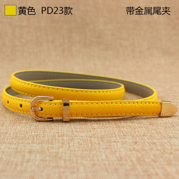 fashion female thin belt women 2018 high quality Strap women leather trouser children's Belts ladies On dresses F111