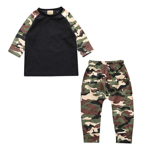 New 2 pcs. Newborn Infant Toddler Baby Boys Girls Fitted Clothes T-Shirts Tops + Pants Costumes SY151