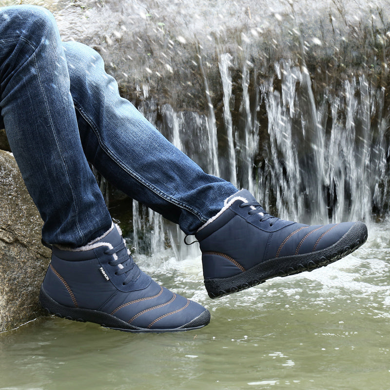 Super Warm Men Winter Boots for Men Warm Waterproof Rain Boots Shoes New Men's Ankle Snow Boot Botas Masculina