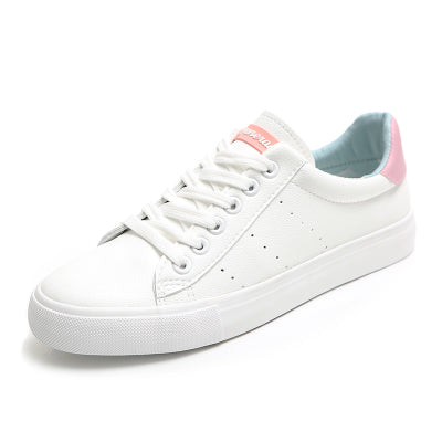 Women White Shoes 2018 Spring New Female Casual Shoes Fashion Sneakers Zapatillas Deportivas Mujer Blue Pink Red 35-40