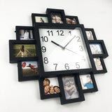 New DIY Wall Clock Modern Design DIY Photo Frame Clock Plastic Art Pictures Clock  Unique Klok Home Decor Horloge