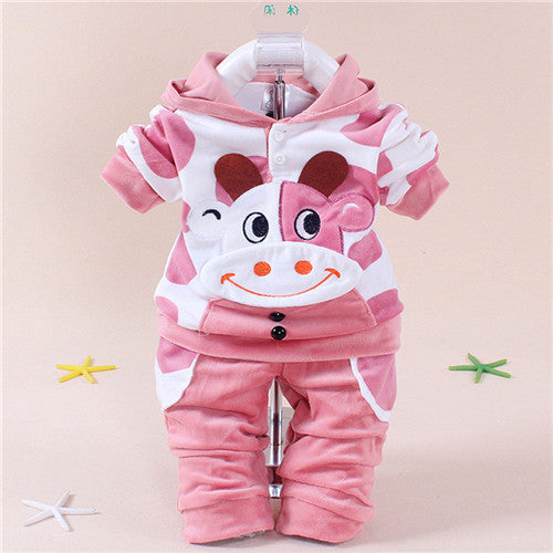 Autumn Baby Boys Clothes Sets Cartoon Children Clothes Girls Sport Suit Long Sleeve T-shirt+Pants Cotton Kids Outfits Suits