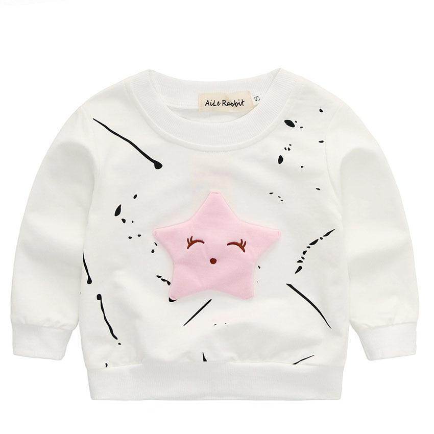Jamicy /™ Infant Baby Boys Girls Letter Print T-Shirt Tops+Pants Outfits Sister Clothes Newborn Long Sleeve Cartoon Cow Hoodie Romper
