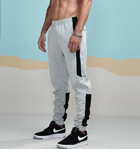 New spring Joggers Pants Men Cotton Patchwork Sweatpants Man Fitted Track Pants Active lounging Pants Male AM5002