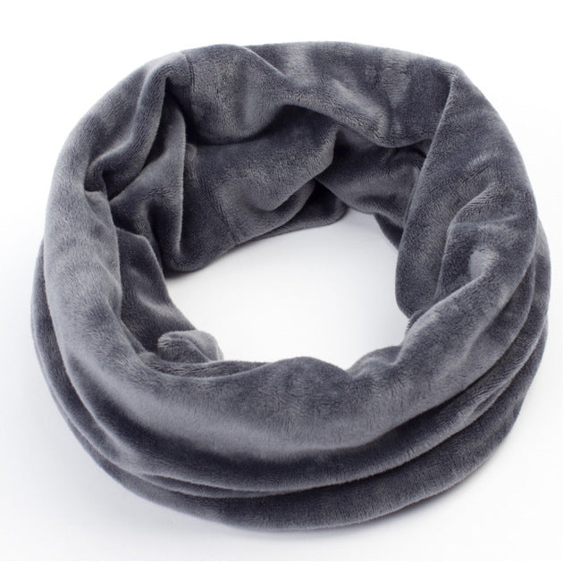 Brand Women's Neck Scarf Winter Casual Velvet Beanie Scarves Women Warm Plaid Scarf For Girls Ladies Velour Head Scarves