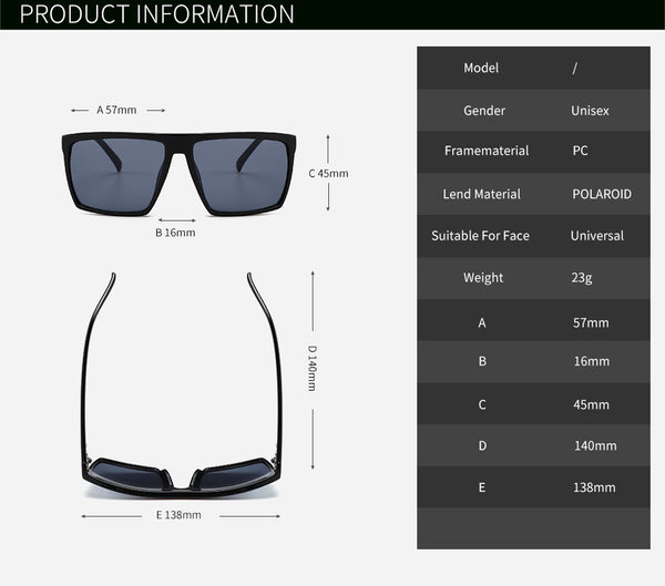 2018 Square Sunglasses Men Brand Designer Mirror Photochromic Oversized Sunglasses Male Sun glasses Man oculos de sol