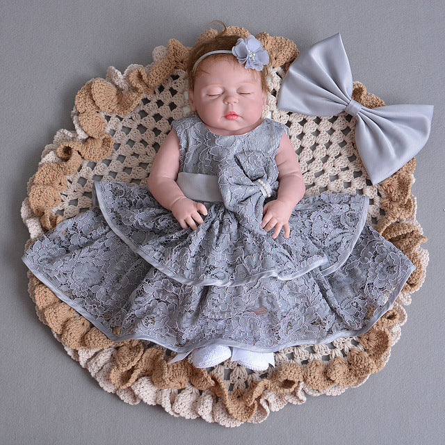 ddc80b98e Baby Embroidered Christening Dress Toddler Princess White Baby Dress ...