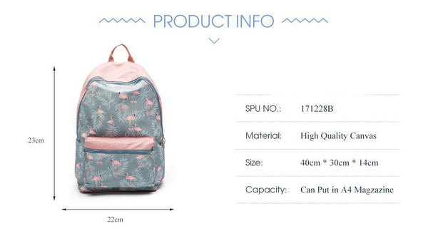 Backpack Stitching Floral Casual Daily Travel Bag Teenagers School Bag Mochila