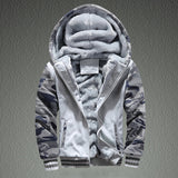 Mens M-4XL Winter Warm Fleece Hood Zipper Sweater Jacket Outwear Coat