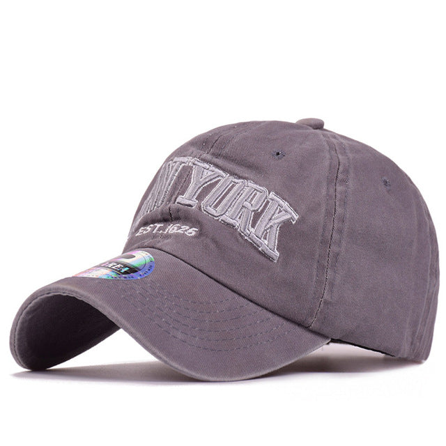 High Quality Washed Baseball Cap 100% Cotton Snapback Cap NEW YORK ... 0d1f56c9a482