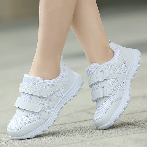 Brand shoes boys girls children's sneakers kids white sports breathable running shoe child students footwear sneakers 25-41
