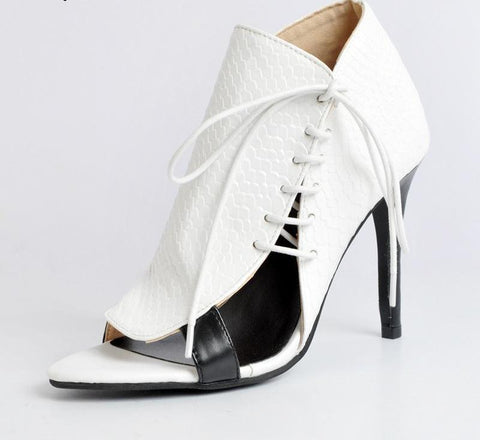 White Woman Shoes Sexy Heels Luxury Women Designer Shoes Ladies Pump Shoes Open Toe Shell Style Ladies Shoe Size 12