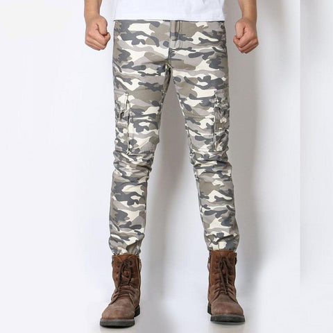 Cotton Military Men Cargo Pants Soft Breathable Camouflage Clothing Khaki Grey Army Green Male Long Casual Trousers