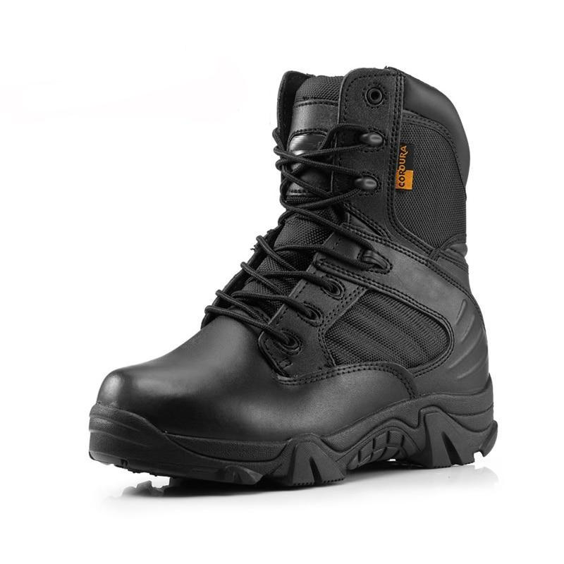 Men Military Tactical Boots Winter Leather Black Special Force  Desert Ankle Combat Boots Safety Work Shoes Army Boots