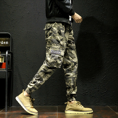 New men's pants Fashion Camouflage overalls male plus size casual loose trousers tidal current trousers hiphop costumes
