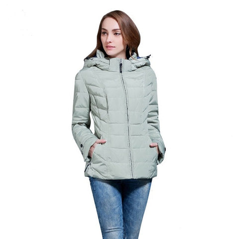 women's coats with a hoodies fashion short design slim winter women's outerwear Russia and Europe size 46-56 Q112