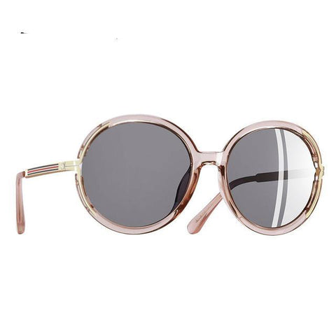 Vintage Oversize Sunglasses Women Metal Legs Polarized Sunglasses Round Lens Eye wear