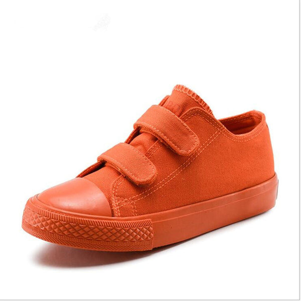 spring new candy color trend children canvas shoes casual board shoes  size 25-38  six colors