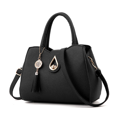 Women Handbag Bag Ladies Tassel High Quality PU Leather Totes Bags Brief Women Shoulder Bag Ladies Bags Totes A915