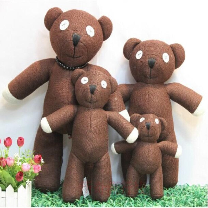 Free shipping Hot Sale 23cm Height Mr Bean Teddy Bear Animal Stuffed Plush Toy For Children Gift Brown Color Christmas Gift