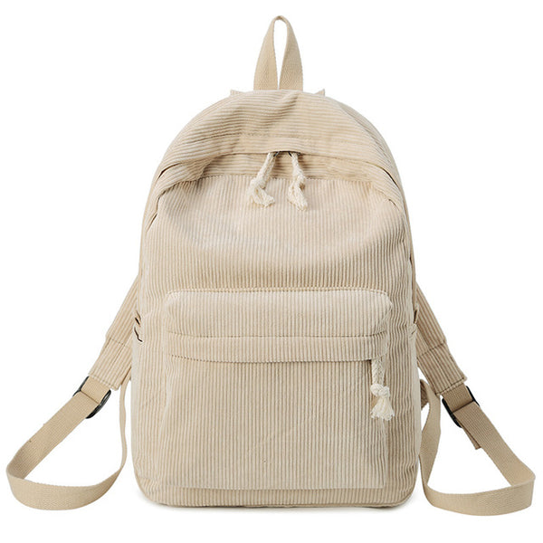 Fashion Backpack Corduroy Woman Backpack School Schoolbag Mochila Female Simple Backpack For Teen Girl Children Mini Bag