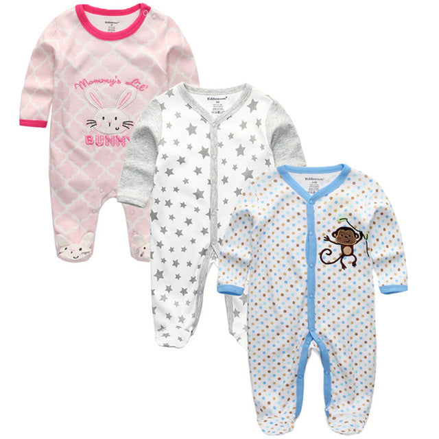 2018 New baby Clothing clothes ropa bebe boy girl roupas full sleeve cotton infantil costume Monos y Bodies newborn rompers