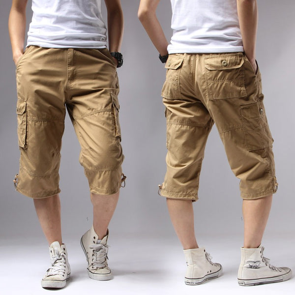 Casual Shorts Regular Solid Pockets Khaki Black Cotton Shorts Men Cargo Shorts Men Army Men's Shorts