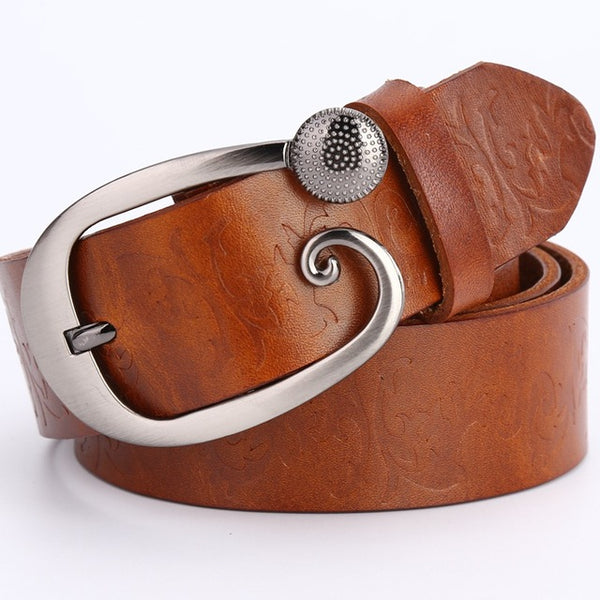 Wide belts for women 2018 100% genuine leather high quality fashion designer ceinture femme luxury cinturones mujer strap flower