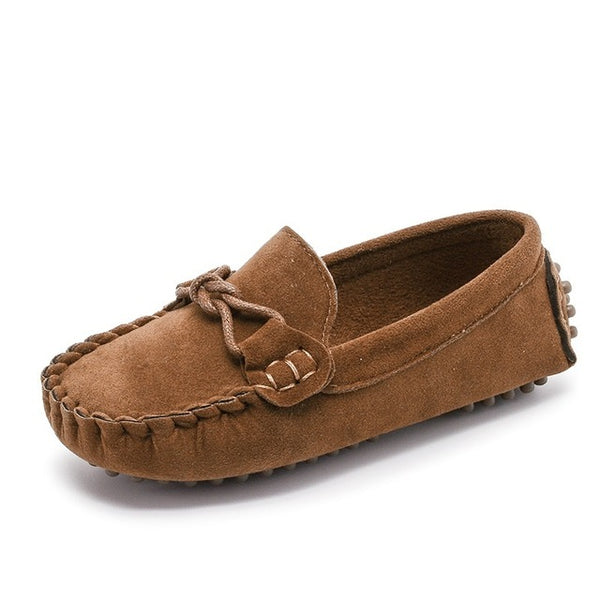 Kids Moccasin Loafers Shoes Boys Fashion Sneakers Children Massage Casual Shoes Kids Girls Flat Leather Shoes Size 21-35