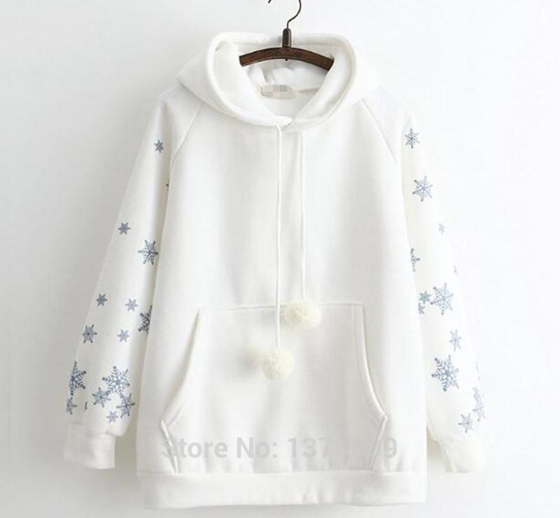 Hoodies  Hoody Pullover Lovely Girl Hoodie Casual Style