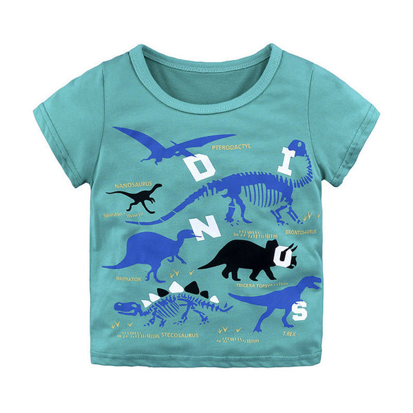 Boys Tops Tees Summer Brand Children T shirts 100% Cotton Boys Clothes Kids Tee Shirt  Cartoon Print Baby Boy Clothing