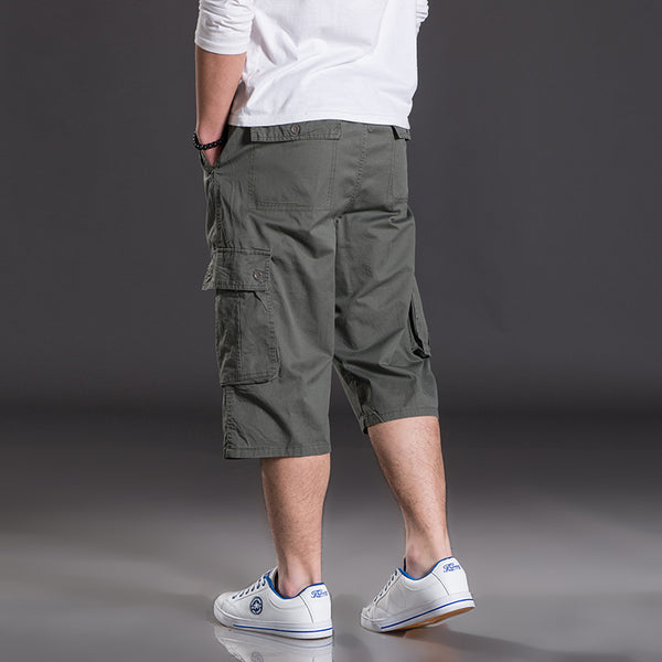 82 Summer plus size casual camouflage large shorts men loose  Elastic Waist Knee Length hiphop short trousers 2xl 6xl