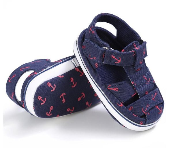 Summer Style Fashion Anchor Baby Boys Shoes Infant Toddler baby sandals Soft Sole first walker Beach sandals 0-18M