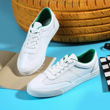 Women Sneakers White 2018 New Female Casual Shoes for Summer Leather Breathable Lace Up Flats Zapatillas Deportivas Mujer 35-40