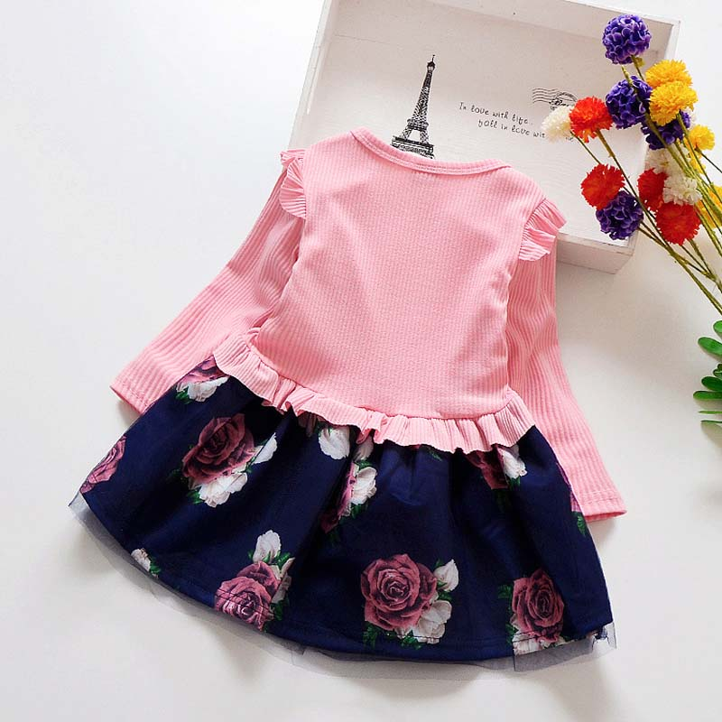 6715e62d4cb8 baby spring Girl Dress Christmas Party Dresses Kids Girls Floral ...