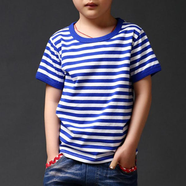 3-13 Year Summer New striped Children T Shirts Boys Kids T-Shirt Designs Teen Clothing For Boys Baby Clothing Girls T-Shirts