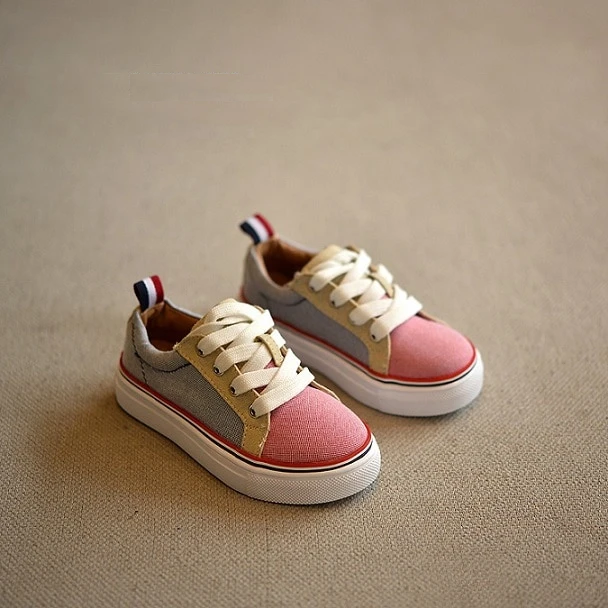 New children shoes girls canvas shoes student Flat kids boys loafers sneakers toddler baby shoes for sports