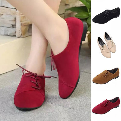 Fashion Women Trendy Pointed Toe Lace Up Flat Heel Leisure Pull On Ladies Sandals Shoes