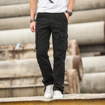 New Men Cargo Pants Military Style Full Length Trousers