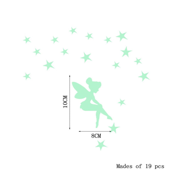 DIY Funny Luminous Wallpaper Switch Stiker Decal Luminous Glow Wall Stickers Bedroom Kids Room Light Parlor Decor 0C