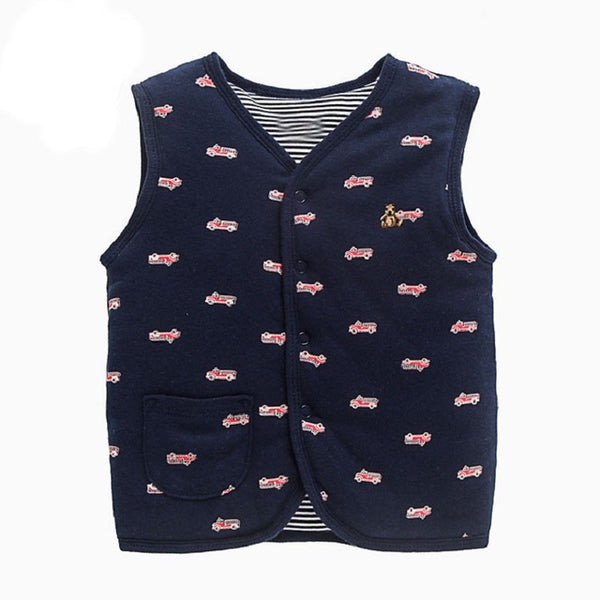 Baby Autumn Winter Vest Double Cotton Newborn Jacket Thickened Vest Infant Baby Clothing 6M-3T Boy Girl Waistcoat Outwear Coat