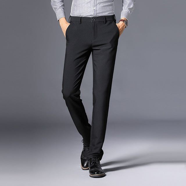 31d5834e651 Business Casual Pants Men New Fashion Regular Straight Spring ...