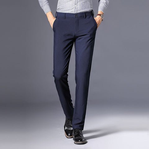 Business Casual Pants Men New Fashion Regular Straight Spring Classic Male Trousers Mens Brand Clothing 3 Colors