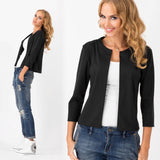 Brand Tops Women  Casual Jacket Women Three Quarters Thin Bomber Jacket Autumn Short Slim Coat