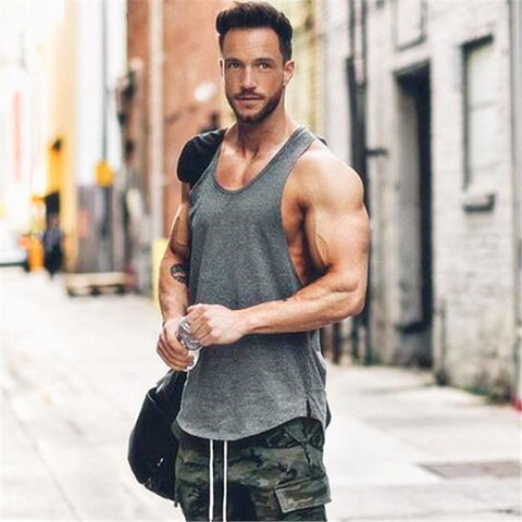 Golds gyms clothing Brand singlet canotte bodybuilding stringer tank top men fitness T shirt muscle guys sleeveless vest Tanktop