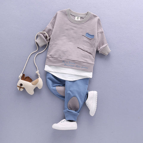 Children Clothing Set Baby's Sets Children's Kids Autumn Boy Outfit Sports Suit Set 1-4T Boys Girls Set Child Suit Clothes