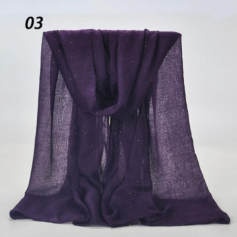 Women Spring Shining Solid Color Scarf Soft Beach Shawls Autumn Female Thin Wraps Hijab Scarves 180*90 cm All Match