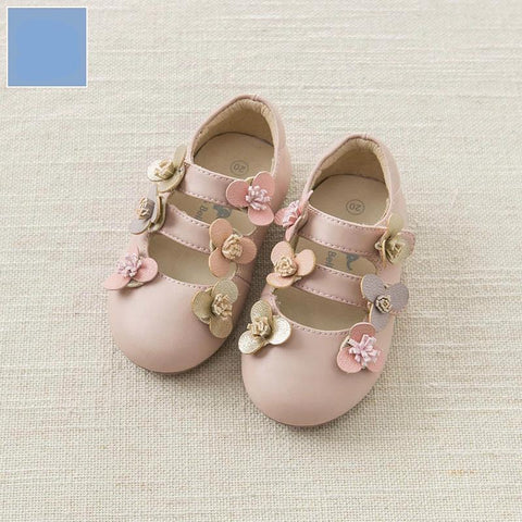 Spring baby girl leather shoes children flower shoes